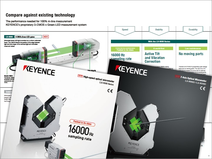 LS-9000 Series Ultra-High-speed, High-accuracy Optical Micrometer Catalogue (English)