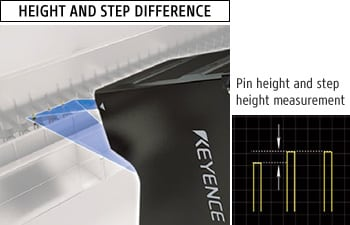 HEIGHT AND STEP DIFFERENCE - Pin height and step height measurement