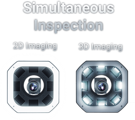 Simultaneous 2D + 3D Inspection