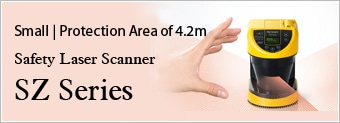 Small | Protection Area of 4.2m Safety Laser Scanner SZ Series
