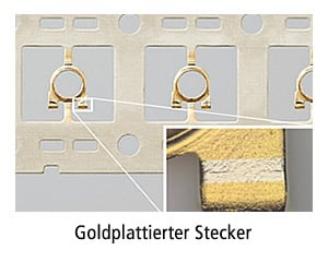 Goldplattierter Stecker