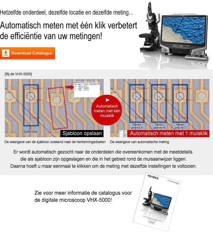 VHX-5000 Reeks Digitale microscoop Catalogus (Nederlands)