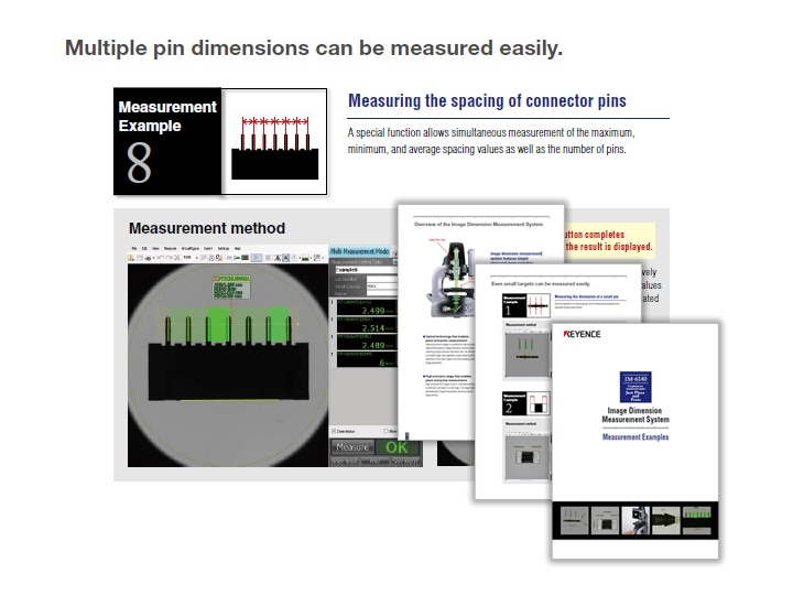 IM-6140 Image Dimension Measurement System Measurement Examples (English)