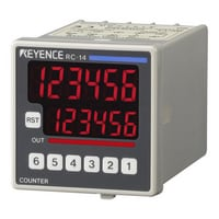 RC-14 - 48 mm□ 6-digit 7-segment LED, Een traps preset, DC voeding